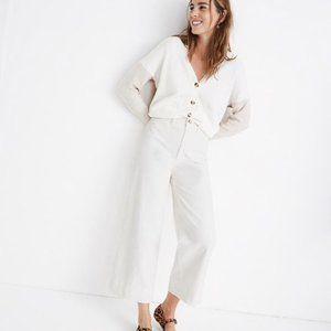 Madwell Emmett Wide-Leg Crop Jeans in Tile White